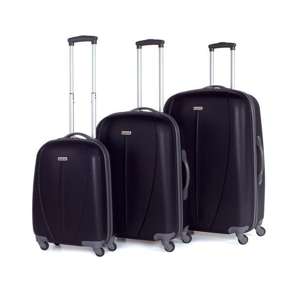 Sada 3 černých cestovních kufrů Tempo
