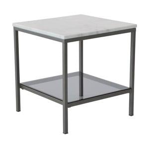 Mramorový konferenční stolek s šedou konstrukcí RGEAscot , 50x50cm