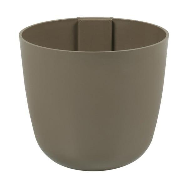 Magnetický květináč Bowl 16x14x16 cm, hnědý