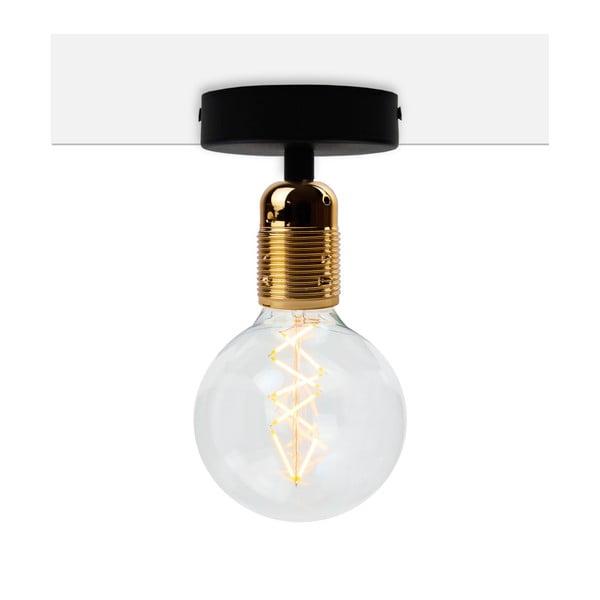 Plafonieră Bulb Attack Uno Basic, negru - auriu