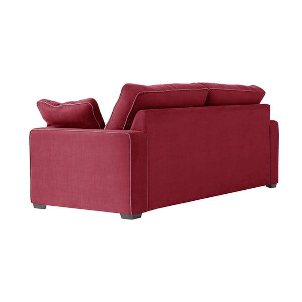 Třímístná pohovka Jalouse Maison Serena, červená