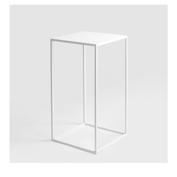 Bílý odkládací stolek Custom Form Tensio