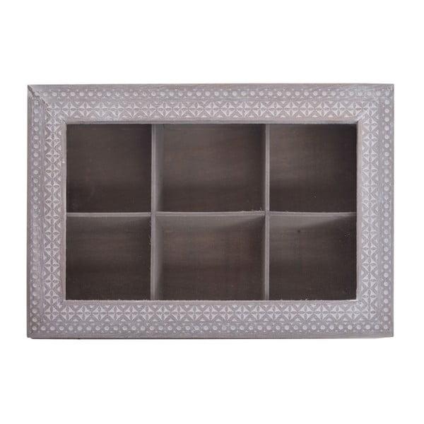 Dřevěná úložná krabička Ewax Herbart, 24 x 16 x 7 cm