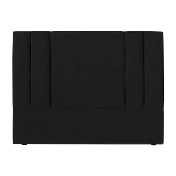 Černé čelo postele Kooko Home Kasso, 120 x 160 cm