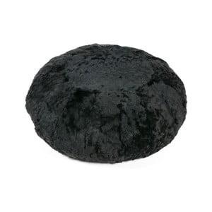 Puf din blană Black