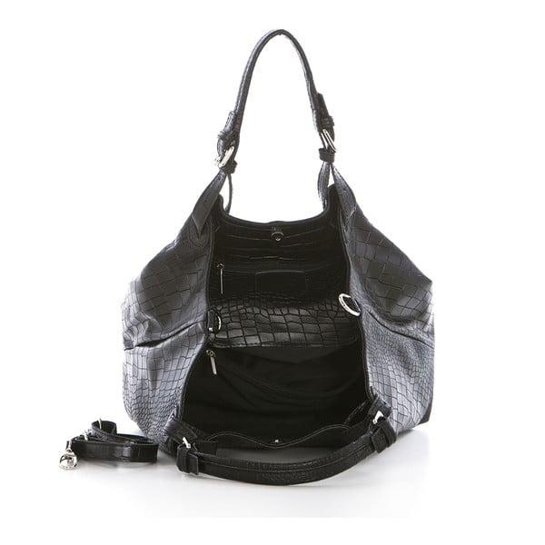 Černá kožená kabelka Federica Bassi Hébe