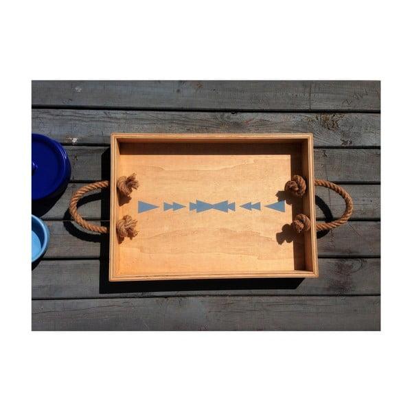 Dřevěný tác Patrick Milly, 35x43x1,2cm