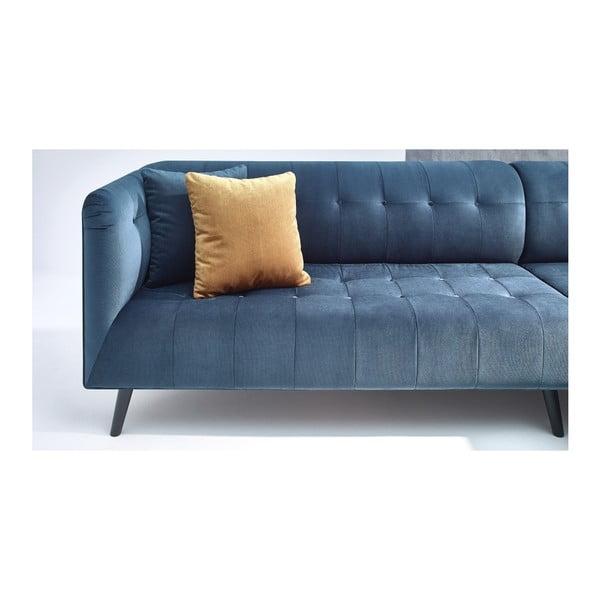 Modrá rohová pohovka Bobochic Paris Parisienne