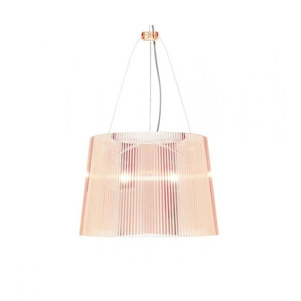 Růžové transparentní stropní svítidlo Kartell Gé