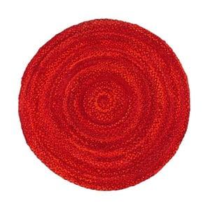 Červený bavlněný kruhový koberec Eco Rugs, Ø150cm