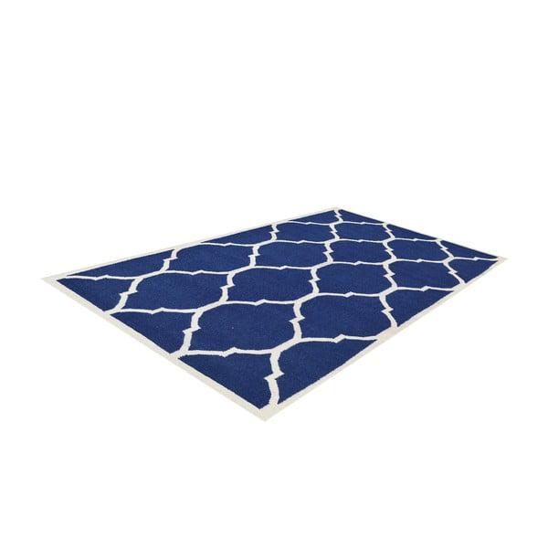 Ručně tkaný modrý koberec Lara, 140x200cm