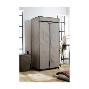 Dulap textil Compactor Wardrobe, înălțime 160 cm, gri