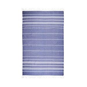 Prosop baie hammam Kate Louise Classic, 180 x 100 cm, albastru închis