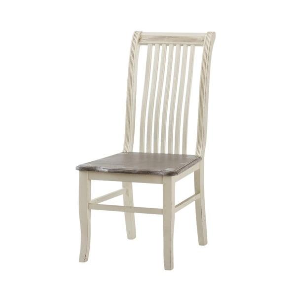 Krémovobiela jedálenská stolička z topoľového dreva Livin Hill Pesaro