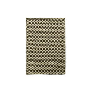 Ručně tkaný koberec Brown and White Kilim, 110x158 cm