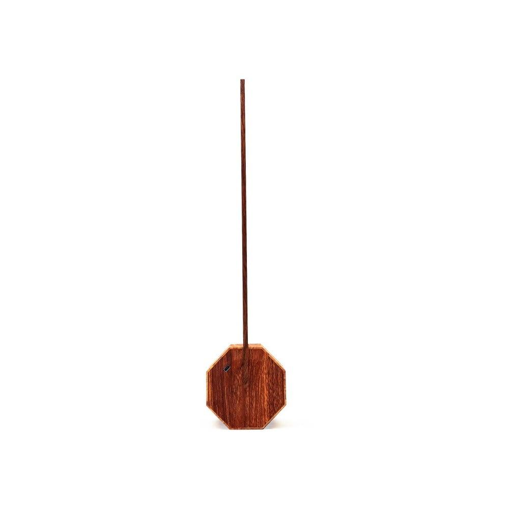 Hnědá stolní lampa Gingko Octagon