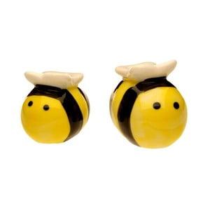 Slánka a pepřenka ve tvaru včeliček v dárkovém balení Just Mustard Meant to Bee
