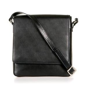 Černá kožená taška přes rameno Italia in Progress Trinita