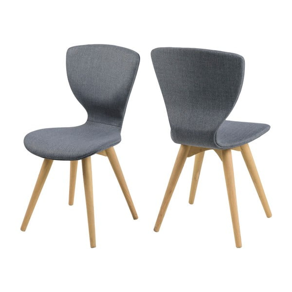 Sada 2 šedých jídelních židlí Actona Gongli