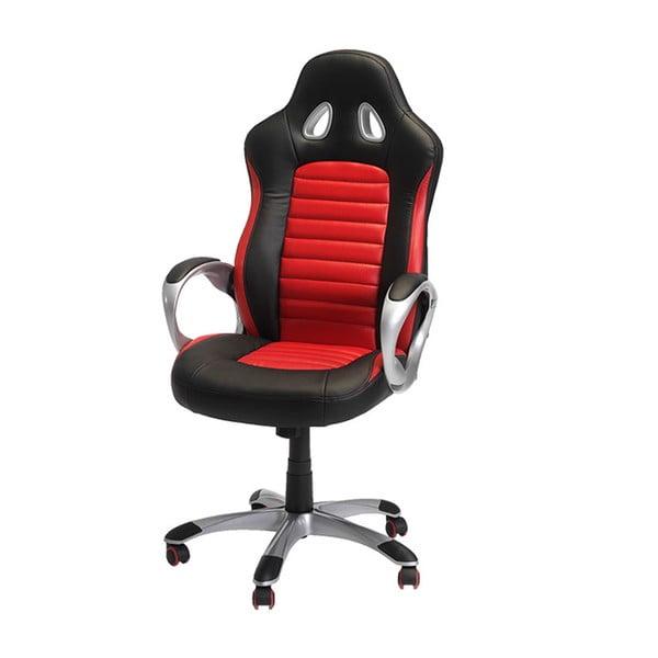 Czerwono-czarny fotel biurowy Furnhouse Speedy 2