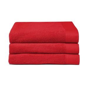 Sada 3 červených ručníků Seahorse Pure,60x110cm