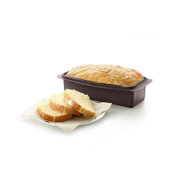 Czarna kwadratowa silikonowa forma do pieczenia chleba Lékué, dł. 25 cm