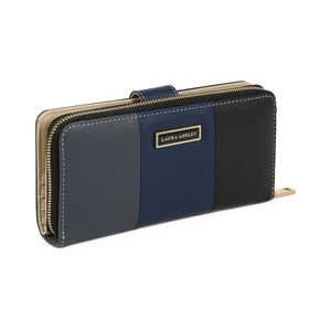 Černá peněženka z koženky Laura Ashley Oceana