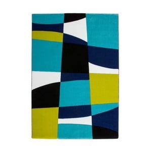 Koberec Lifestyle 171 black/aqua, 120x170 cm