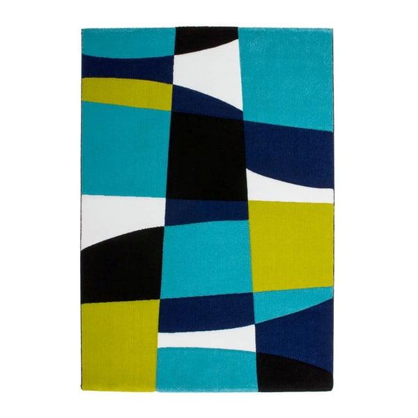 Koberec Lifestyle 171 black/aqua, 80x150 cm
