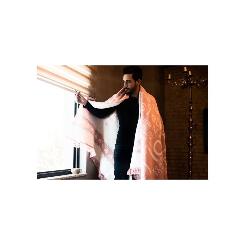 Bavlněná deka Aksu Love, 150 x 150 cm