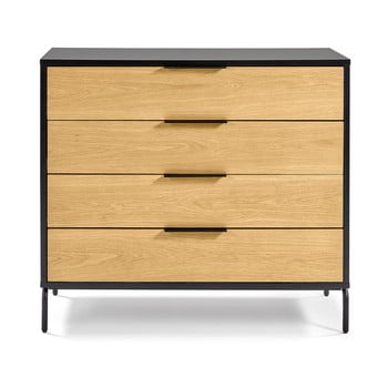 Comodă La Forma SAVOI, 100 x 90 cm, maro-negru imagine
