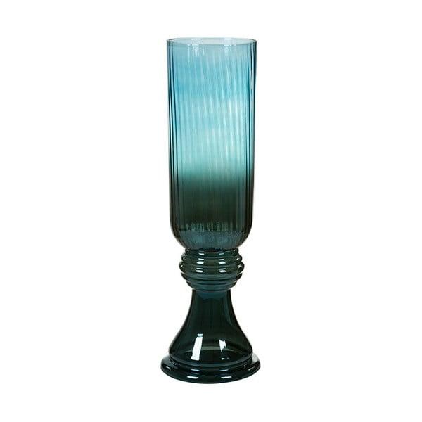 Modrá ručne vyrábaná krištáľová váza Santiago Pons Classy, výška 52 cm