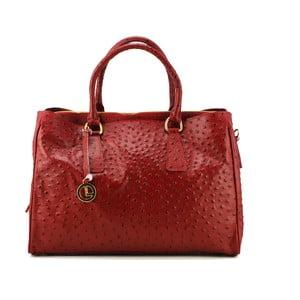 Kožená kabelka Struzzo Grande Rosso
