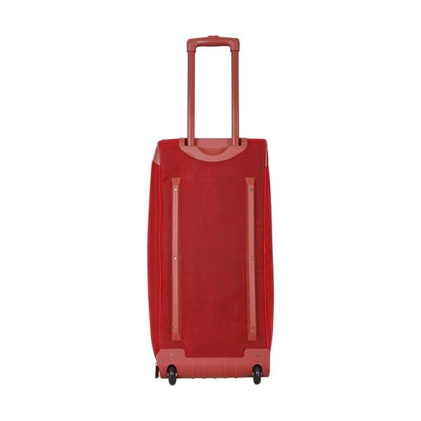 Cestovní taška na kolečkách Jean Louis Scherrer Red, 60 l