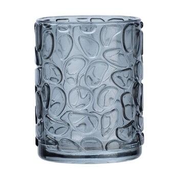 Suport sticlă pentru periuțe de dinți Wenko Vetro Foglia, gri imagine