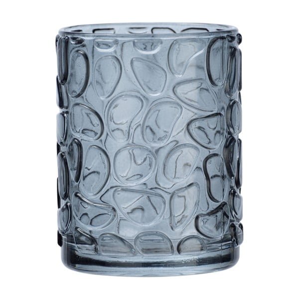 Suport sticlă pentru periuțe de dinți Wenko Vetro Foglia, gri