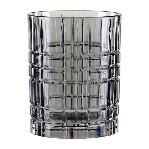 Šedá sklenice na whisky z křišťálového skla Nachtmann Highland Smoke, 345 ml