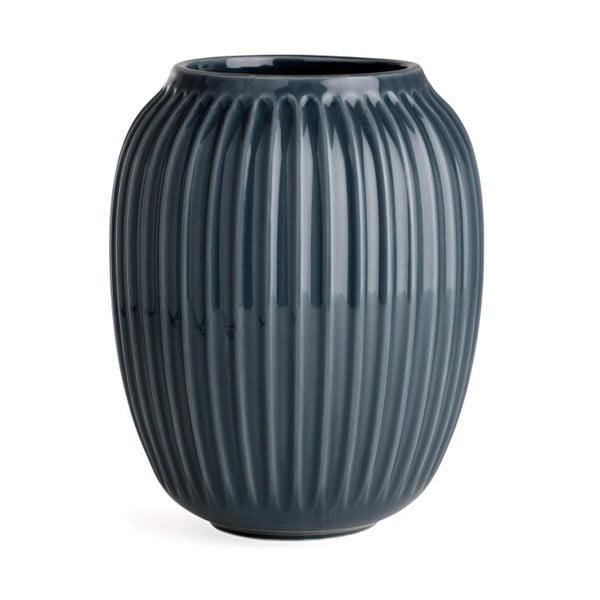 Antracitovosivá kameninová váza Kähler Design Hammershoi, výška 20 cm