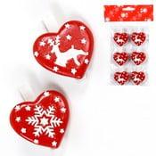 Set 6 decorațiuni Unimasa Hearts