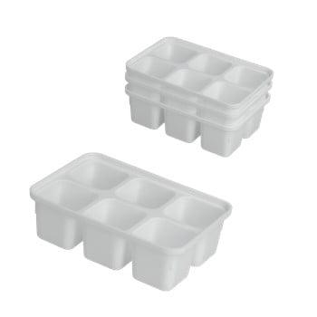 Set 4 forme pentru gheață Metaltex Ice Cube, alb imagine