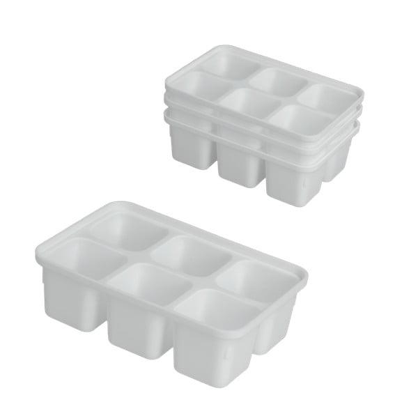 Set 4 forme pentru gheață Metaltex Ice Cube, alb