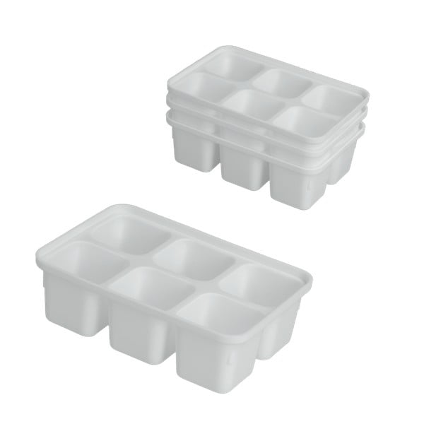 Sada 4 bielych formiček na ľad Metaltex Ice Cube