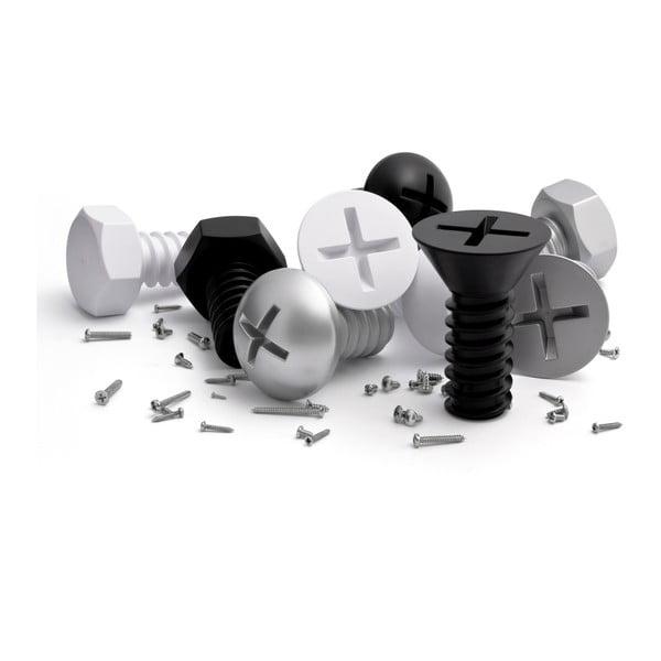 Věšáky Screw Collection, černé