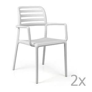 Sada 2 bílých zahradních židlí Nardi Costa