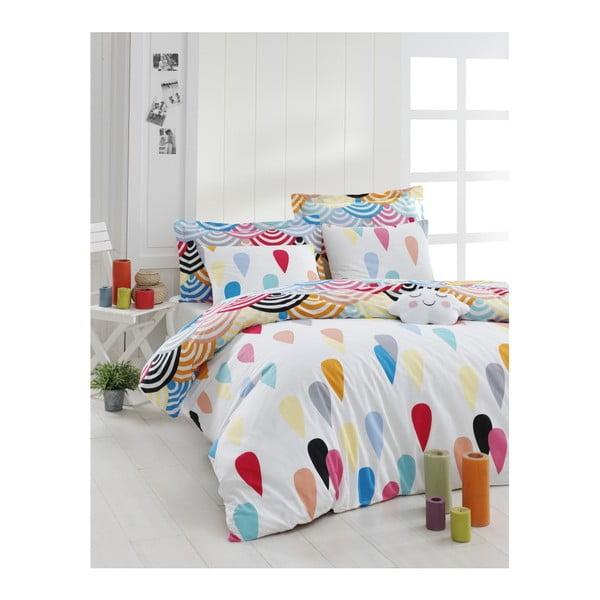 Lenjerie de pat cu cearșaf din bumbac ranforce, pentru pat dublu Mijolnir Vendula Mix, 200 x 220 cm