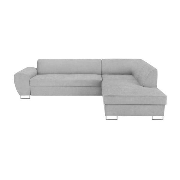 Canapea extensibilă cu spațiu pentru depozitare Kooko Home XL Right Corner Sofa, gri