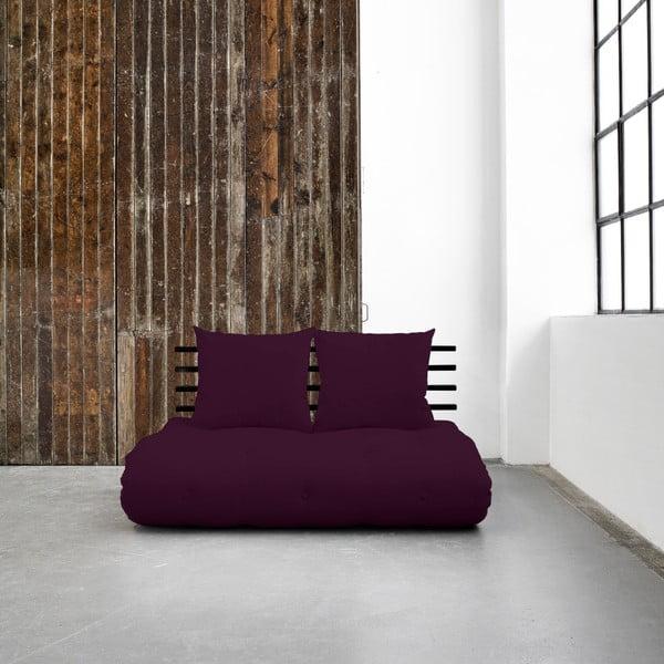 Variabilná pohovka Karup Shin Sano Black/Purple Plum