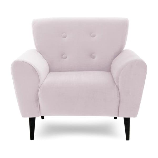 Jasnofioletowy fotel Vivonita Kiara
