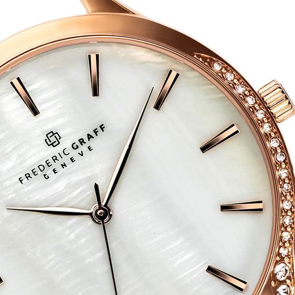 Dámské hodinky s koňakově hnědým páskem z pravé kůže Frederic Graff