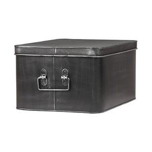 Černý kovový úložný box LABEL51 Media, šířka 35cm